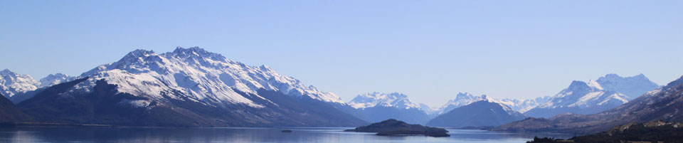 Mountains at head of Lake Wakatipu