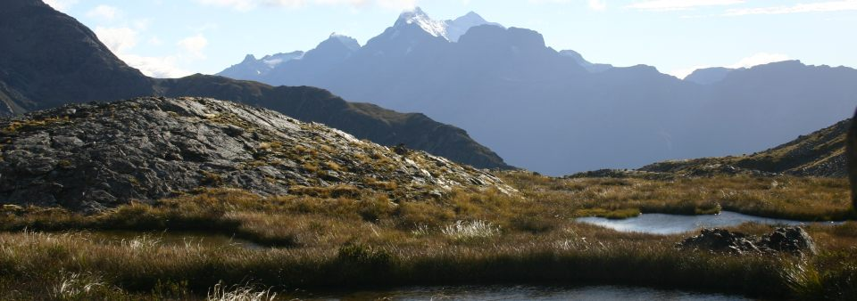 Mt Earnslaw from the pass between Kay and Scott Creeks